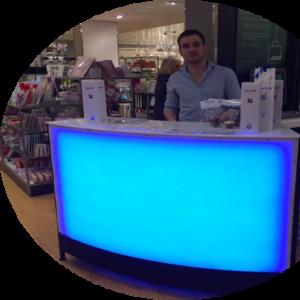 1.5m LED bar unit for hire
