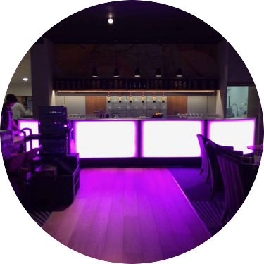 hire 6m led mobile bar