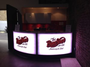branded led bar for hire