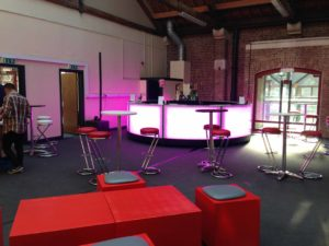 Circular LED Bar Hire for events