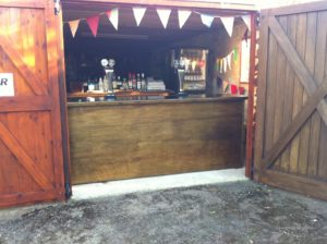 wooden cash bar hire