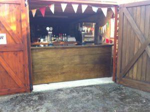 wooden cash bar hire