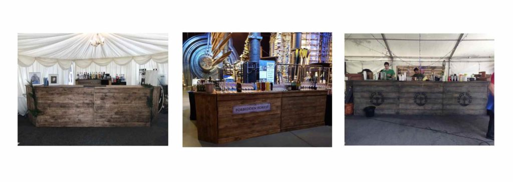 vintage wooden bars at events