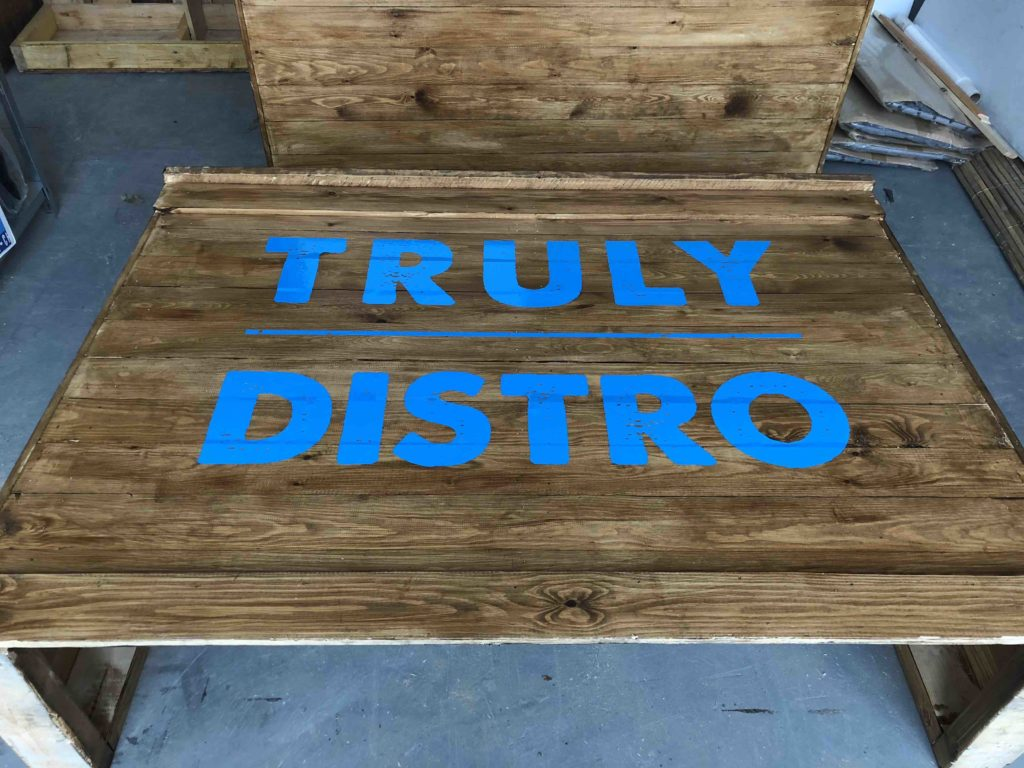 hire of wooden branded bar
