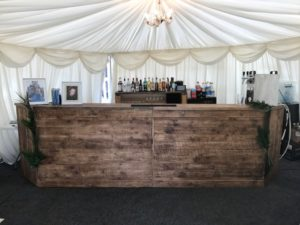 Wooden wedding cash mobile bar