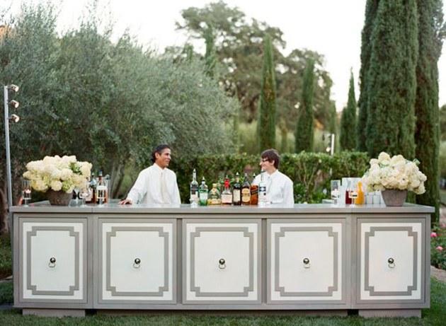 elegant mobile cocktail bar hire for weddings