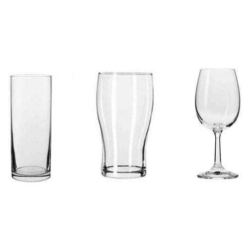 basic glassware hire