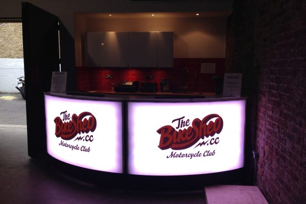 branded led bar for hire