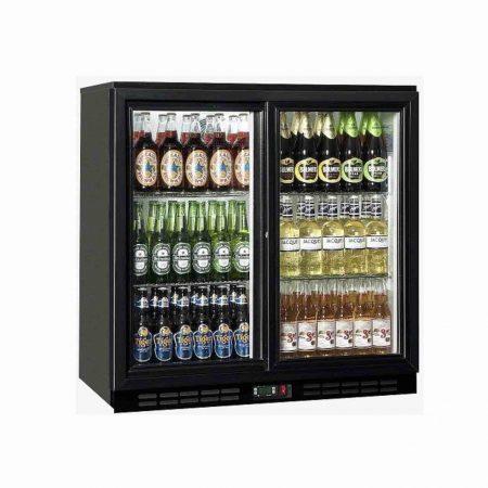 double bottle fridge hire