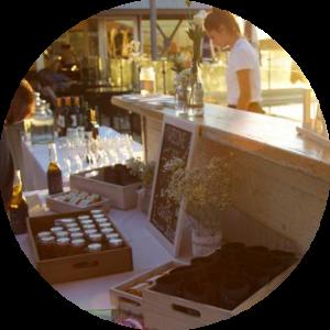 mobile cocktail back bar setup