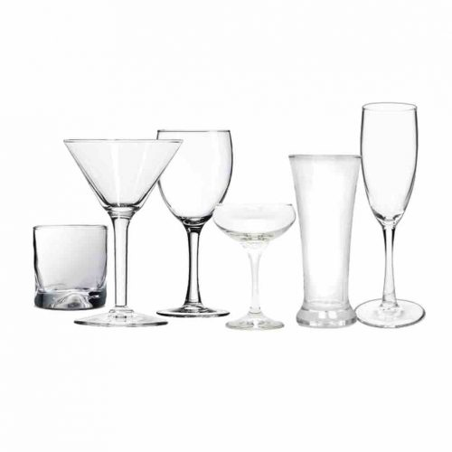 midrange glassware hire