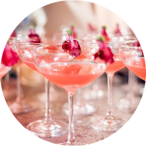 pink cocktails for wedding