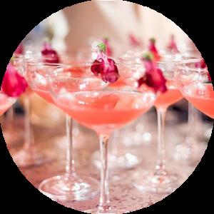 pink cocktails for wedding